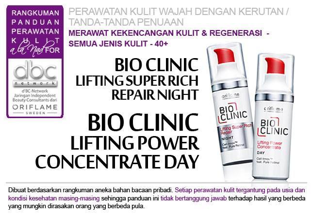 Bio Clinic Lifting Super Rich Repair Night | Bio Clinic Lifting Power Concentrate Day |  #perawatan #kulit #wajah #kerutan #penuaan  #merawat #kekencangan #regenerasi #semuajenis #kulit #40+ #tipsdBCN #Oriflame