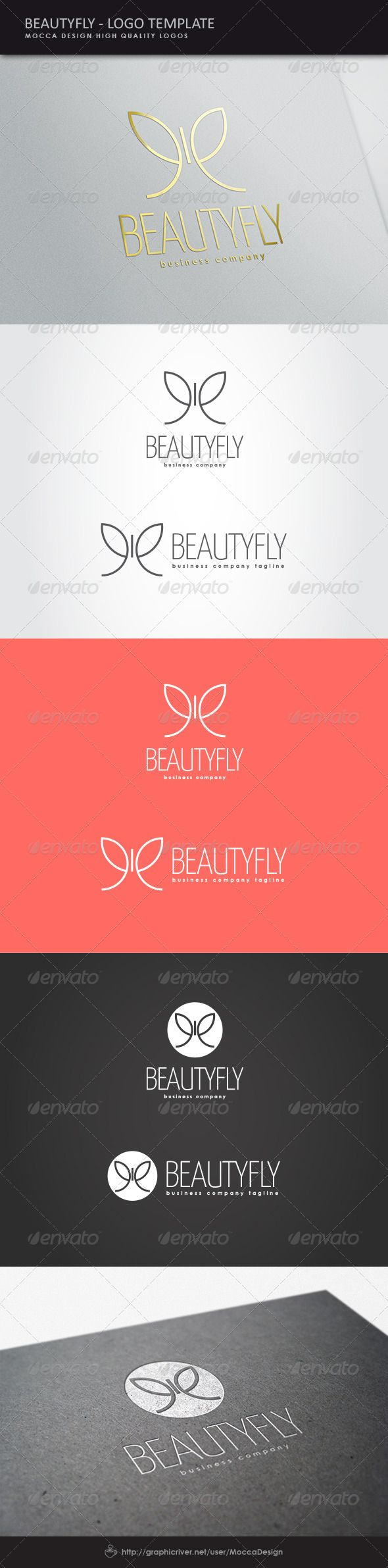 Logotype butterfly and letter b in different colour variants on a - A Butterfly Logo Concept Beautyfly Logo Design Template Vector Logotype Download It Here Http Graphicriver