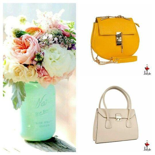 Love flowers and handbags