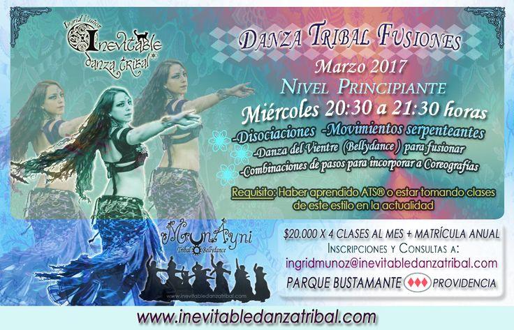 Curso de Danza Tribal Fusiones Marzo 2017 Inscripciones a ingridmunoz@inevitabledanzatribal.com