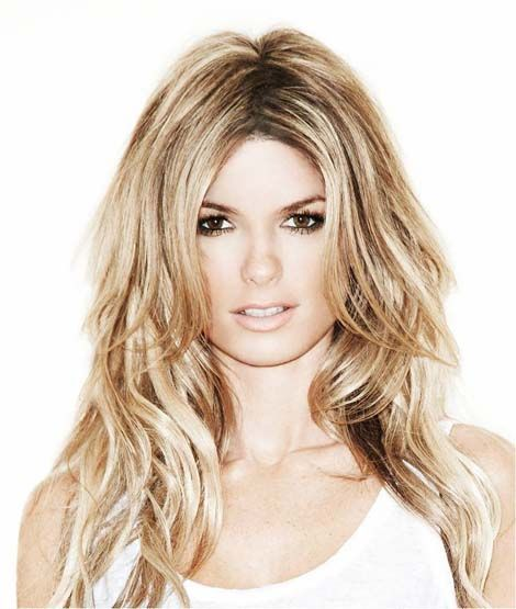 Marisa Miller....<3 her hair color and the style!
