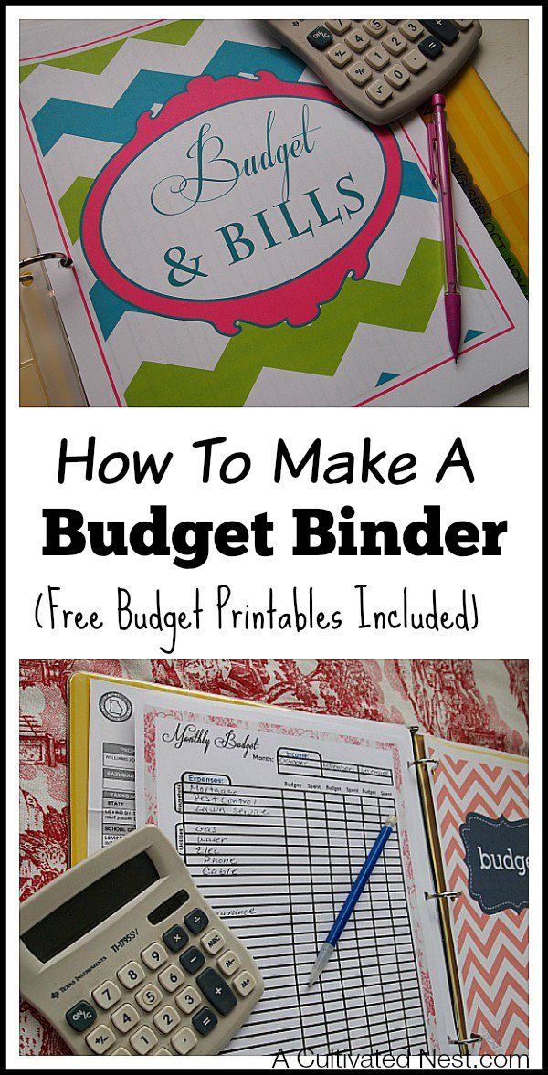 How to make a budget binder - This is a simple manageable system to get your finances organized in one place to make budgeting easier. Very easy to customize your own household budget notebook with free budget printables! How to start a budget, frugal living, budgeting money, frugal living, thrifty living
