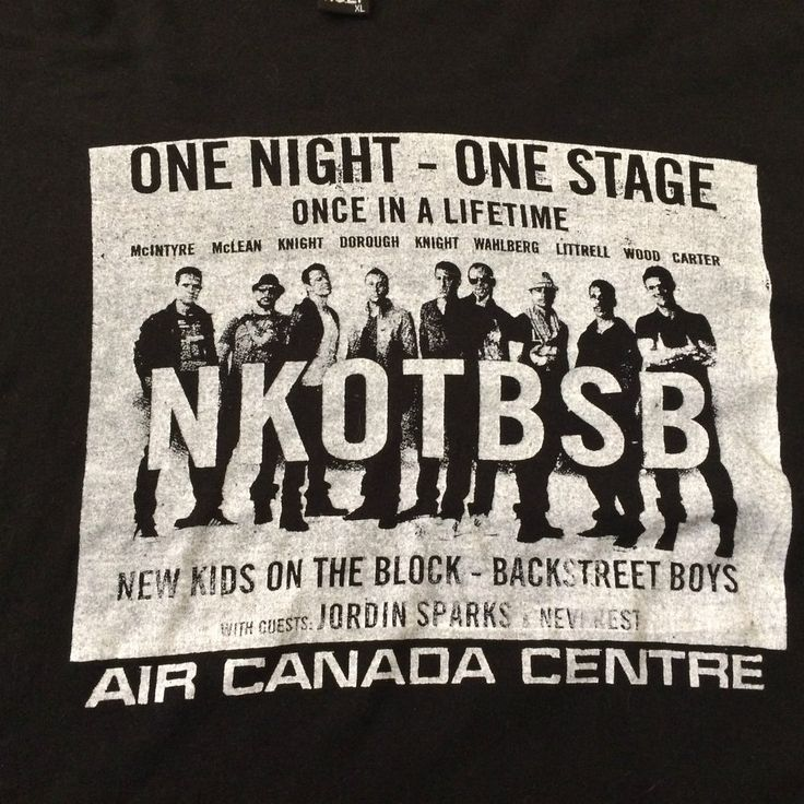 NKOTB Concert T-shirt with Backstreet Boys Air Canada Centre 2011 XL #BasicTee