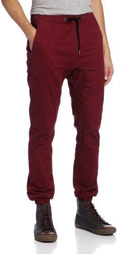 $37, Burgundy Chinos: Zanerobe Solid Sureshot Drawstring Chino Jogger Pant. Sold by Amazon.com. Click for more info: https://lookastic.com/men/shop_items/296715/redirect