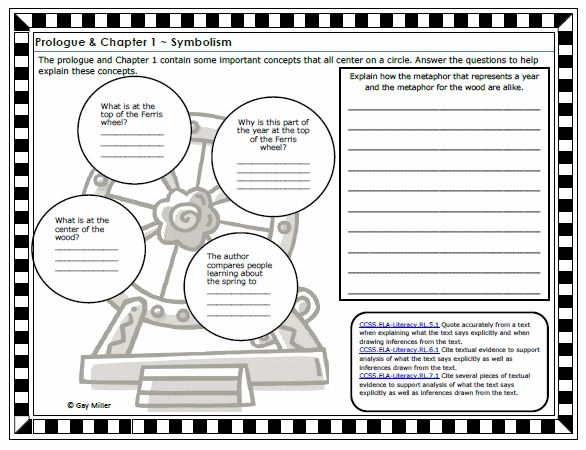 Printables Tuck Everlasting Worksheets 1000 ideas about tuck everlasting on pinterest louis sachar free printable constructive response graphic organizer