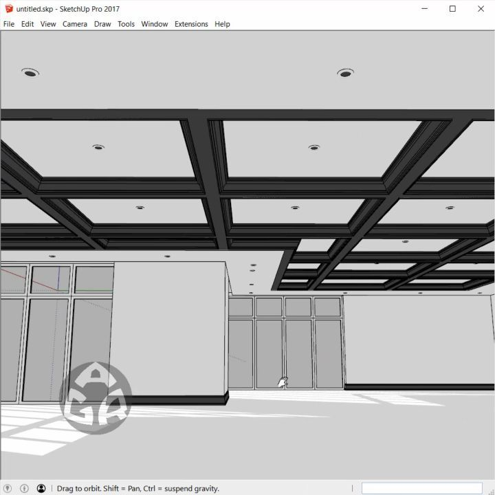 3d Modeling A Coffered Ceiling Using Sketchup Model B
