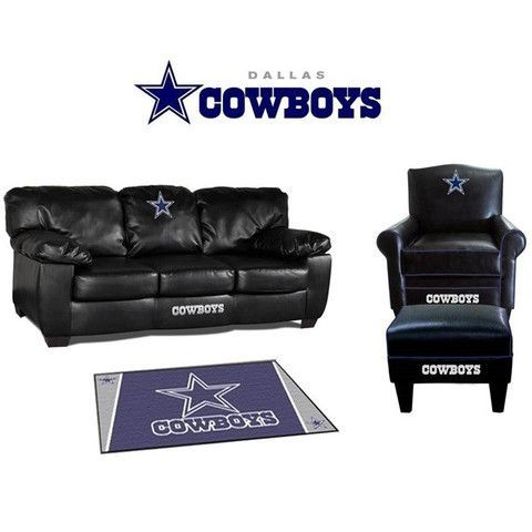 Perfect Dallas Cowboys Leather Furniture Set   Great For A Game Room
