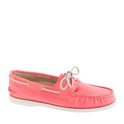 coral sperry's. Sperry Top-Sider® for J.Crew Authentic Original 2-eye boat shoes in pastel