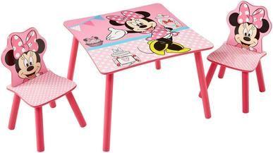 Worlds Apart Kindersitzgruppe Minnie Mouse, Tisch mit Stühlen