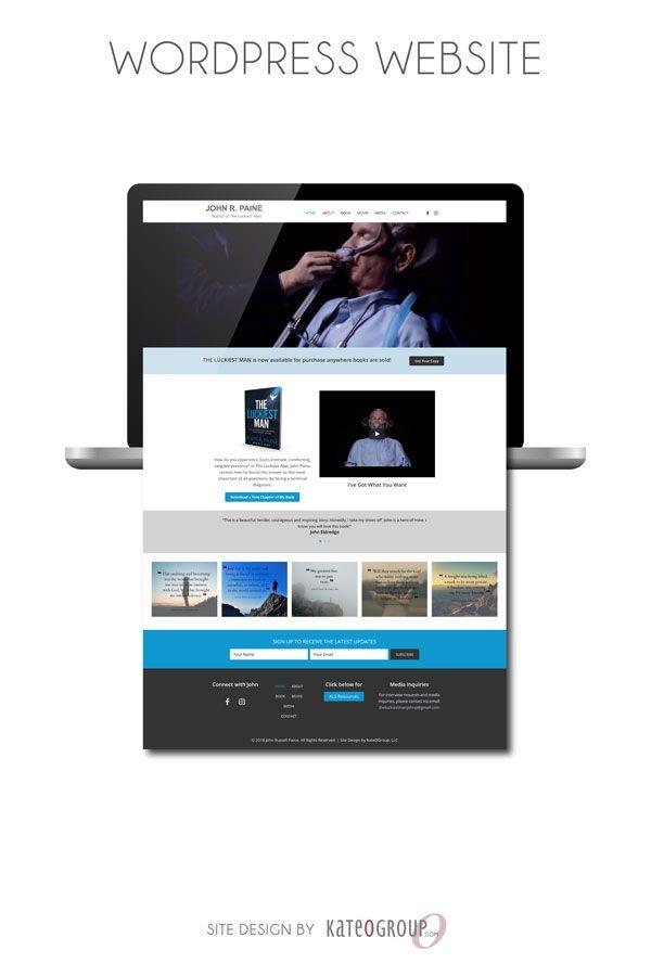 Author Web Design For John R Paine Wordpress Website Design By Kateogroup Webdesign Wordpress Kateogroup Web Design Wordpress Website Design John R