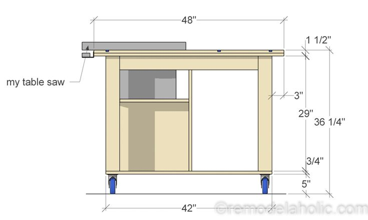 Side View, DIY Router Table and Table Saw Workbenc…