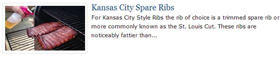 Kansas City Spare Ribs Recipe