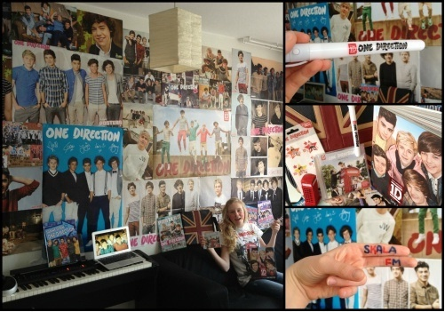 One of the entries for skala fm's contest! She's a huge one direction fan!