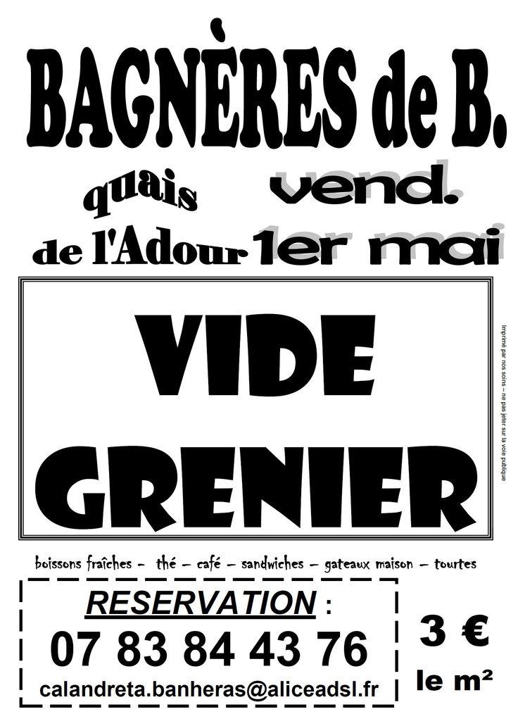 Vide grenier 1er mai 2015 à Bagnères de Bigorre - 65