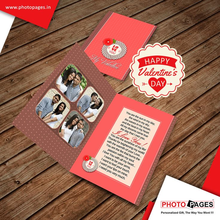 Special Card for Special People on a Special Day! ‪#‎valentinesday‬ ‪#‎personalised‬ ‪#‎greetings‬ ‪#‎ahmedabad‬ ‪#‎photopages‬ http://ow.ly/XtS5Z