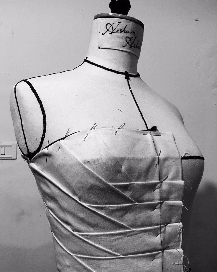 D R A P I N G By:: Mr-Hesham Helal #Draping #Fashion #Freestyle #Art