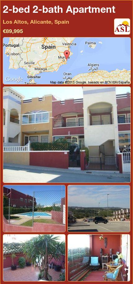 2-bed 2-bath Apartment in Los Altos, Alicante, Spain ►€89,995 #PropertyForSaleInSpain