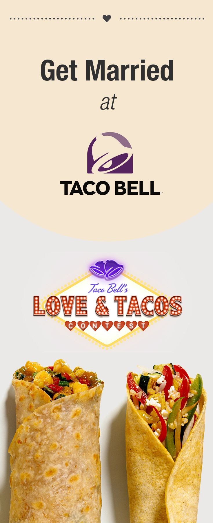 You Can Now Get Married at Taco Bell. The chain recently announced that they will be the first to add wedding ceremonies to the menu.