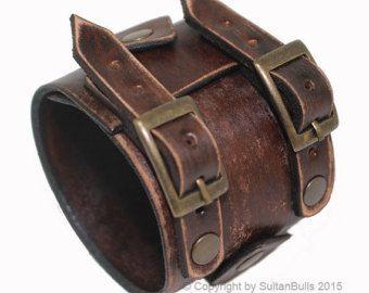 Pulsera de cuero pulsera JOHNNY DEPP por LeatherBraceletStore