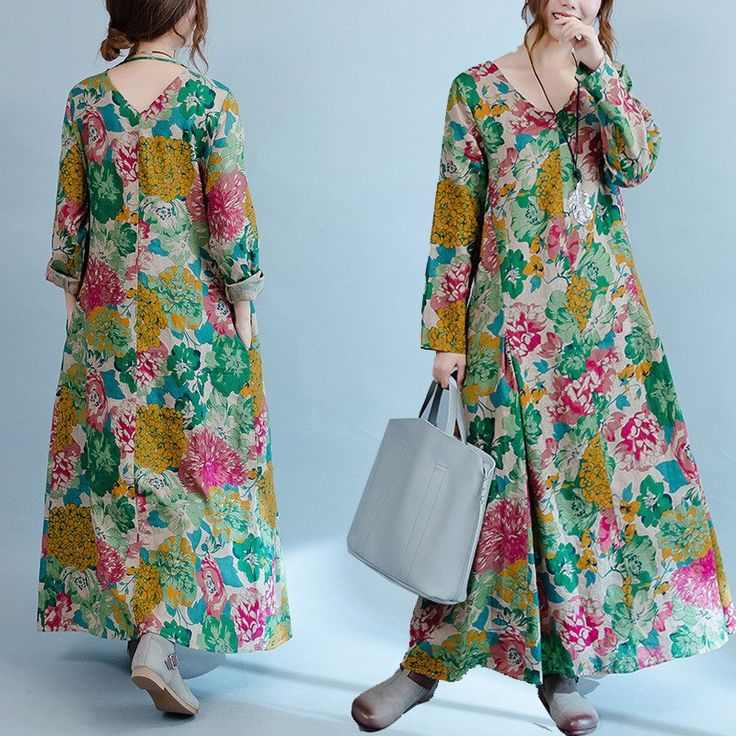 Big Floral Style For a vintage look. buykud dresses