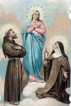 Santa Clara e São francisco de Assis