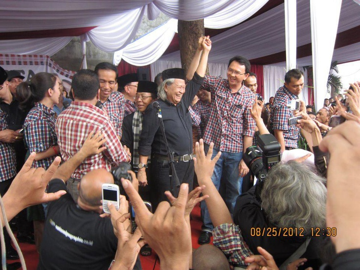 Budayawan Betawi, Ridwan Saidi mengaku sudah lama kagum pada sosok Jokowi.