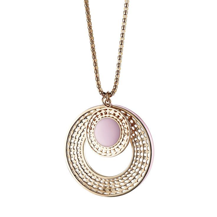 Oxettissimo Pink Necklace - Available here http://www.oxette.gr/kosmimata/kolie/stainless-steel-rosegold-plated-pink-neckla-oxette683l-1/  #oxette #OXETTEnecklace #jewellery