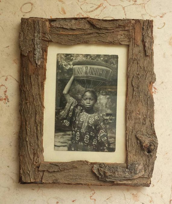Rustic picture Frame Eco friendly Natural Bark by pineconeinabox