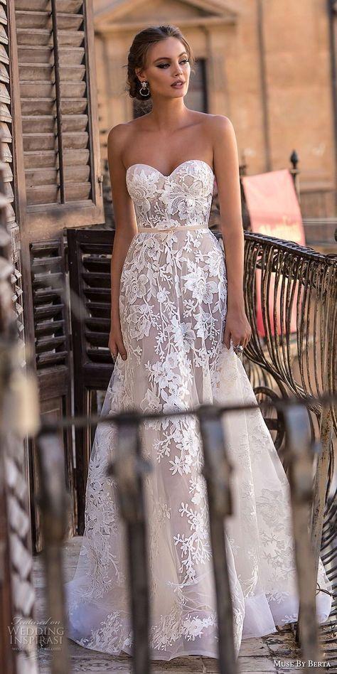 muse berta 2018 bridal strapless sweetheart neckline full embellishment romantic a line wedding dress medium train (11) mv -- Muse by Berta 2018 Wedding Dresses #weddingdress