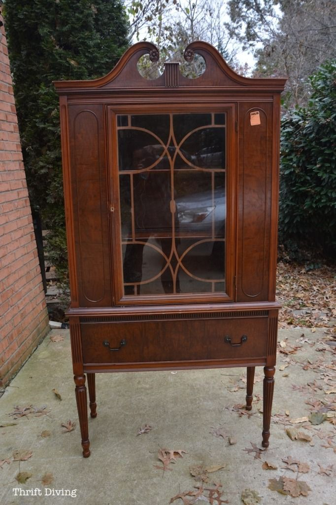 China Cabinet Makeover with RECLAIM Paint - Thrift Diving_1004