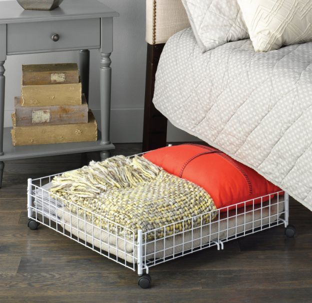 Features an epoxy-coated steel wire frame with wheels that allow easy sliding underneath your bed or other narrow places. Perfect for blankets, linens, toys, books, magazines, and more. Durable white epoxy-coated steel. | eBay!