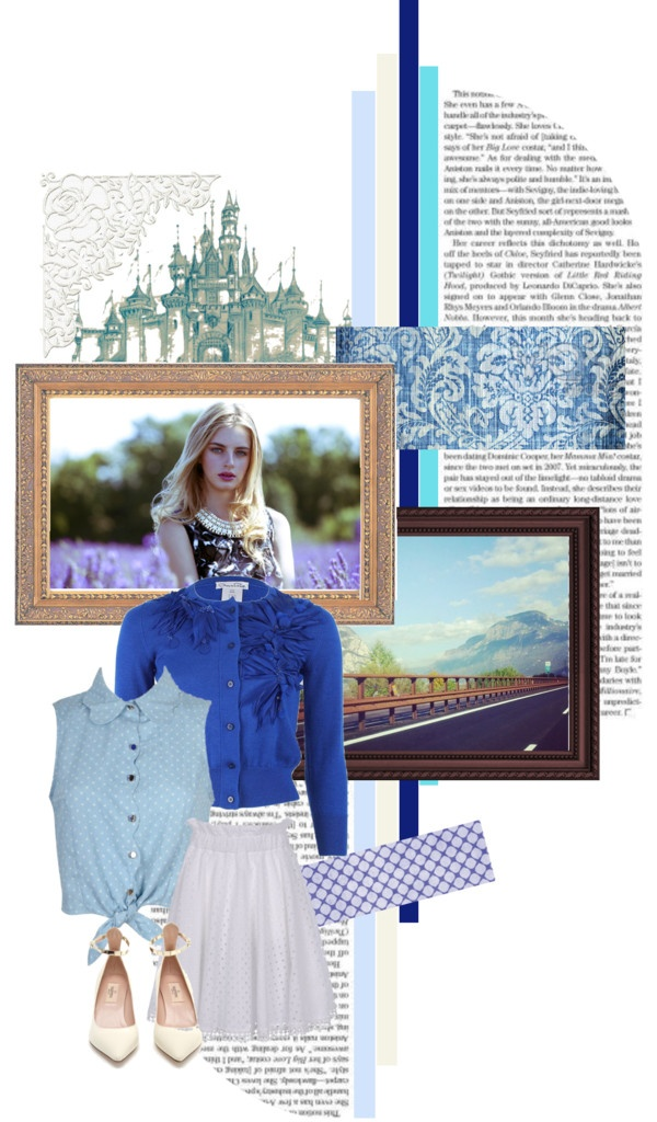 """Blue Color"" by ailly87 on Polyvore"