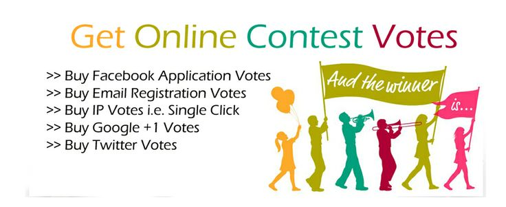Buy Bulk Online Contest Votes and Facebook Application Votes. Email Registration Votes and IP votes.Buy Online Votes for Online Contest