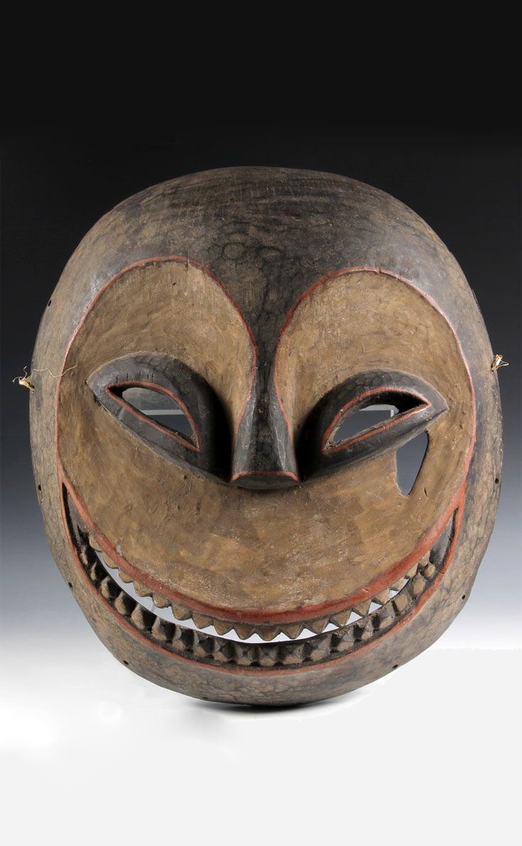 Africa | Eket mask from the Ibibeo people of southern Nigeria | Wood, paint