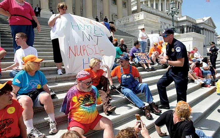 'If We Lose Our Health Care, We Will Begin to Die'  Disability activists are at the forefront of direct action against Trump.