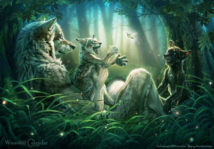 Morning Vale by `balaa on deviantART ### Even for werewolves, their first duty is to raise strong, happy children.