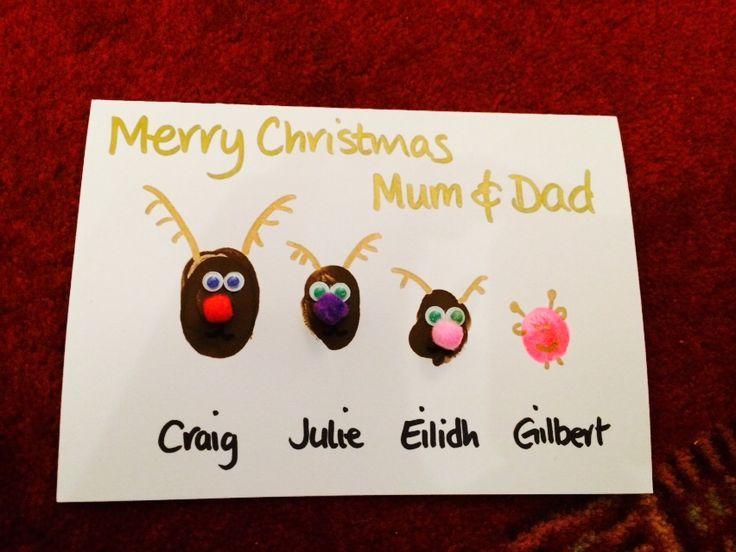 Homemade Reindeer Christmas Card (2014)