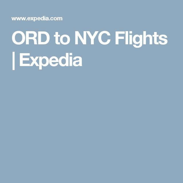 ORD to NYC Flights | Expedia