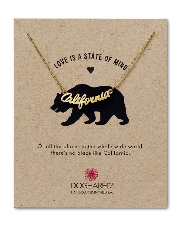 Dogeared Love is a State of Mind Script California Necklace, 18""
