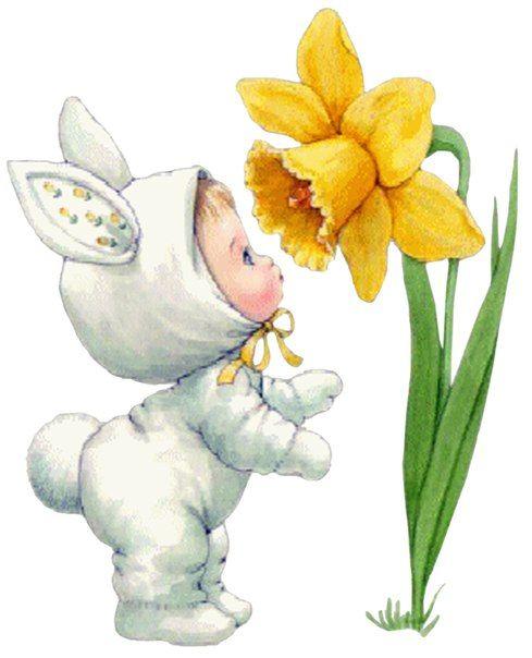 Открытки лялька с цветочком, открытка