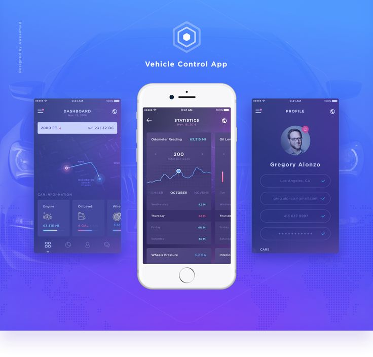 "Check out this @Behance project: ""Car control mobile app"" https://www.behance.net/gallery/46173123/Car-control-mobile-app"