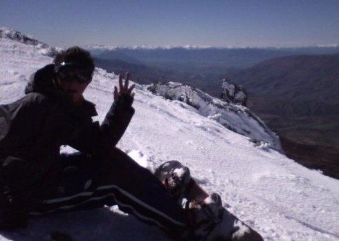 Snowboarding up Cardrona #greatwalker