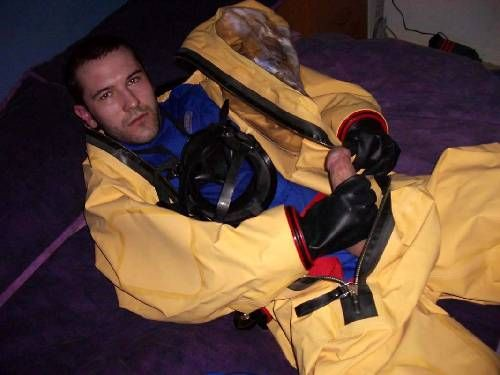 "guysinlevelahazmatsuits: "" Hazmat Gas Tight Level A Suits from the Web 2584 """