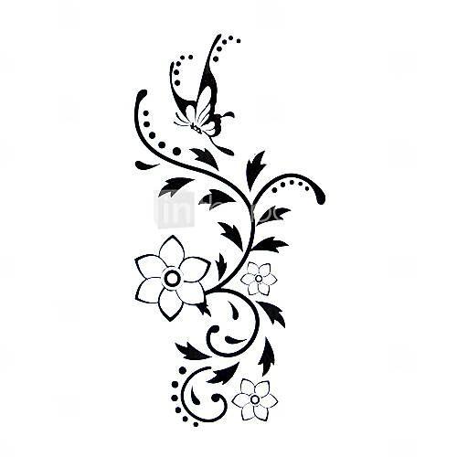 pieces de tatouage de fleur hydrofuge temporaire 12 5 cm 6 5cm
