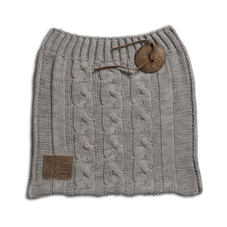 Cosy bag Eva 60x40 light grey by Knit Factory www.knitfactory.nl