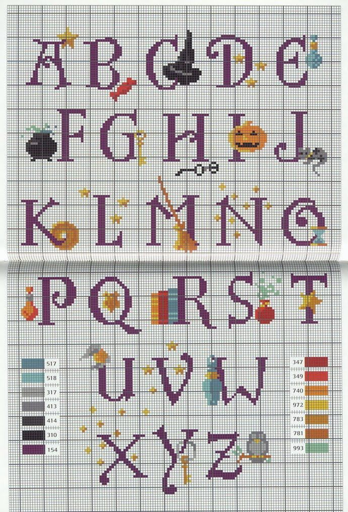 Harry Potter Alphabet 1 cross stitch