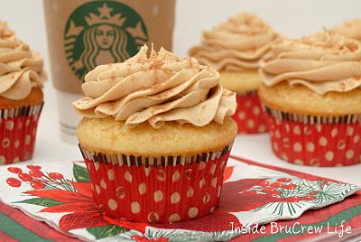 Eggnog Latte CupcakesCupcakes Yummmm, Crazy Cupcakes, Christmas Cooking, Yummy Desserts, Christmas Yummy, Cupcakes Recipe, Eggnog Cupcakes, Latte Cupcakes, Eggnog Latte
