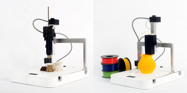Focus 3D by flow 3D printer two extruders