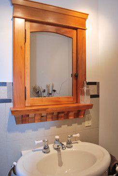 Built-In Custom Wood Medicine Cabinet - craftsman - makeup mirrors ...