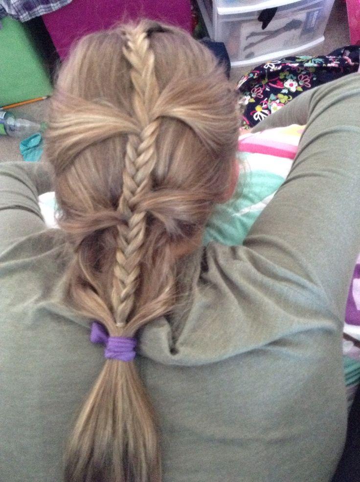 Half French braid